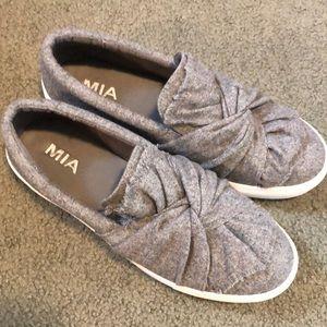 Grey sneaker shoes